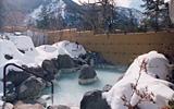 露天風呂も雪景色